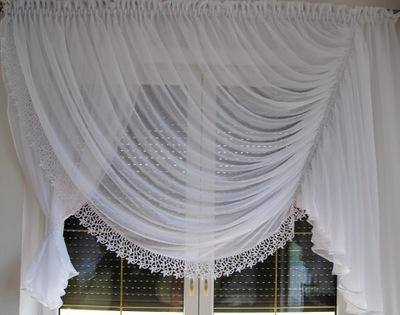 Firana KINGA woda kresz gipiura okno 200 - 250 cm