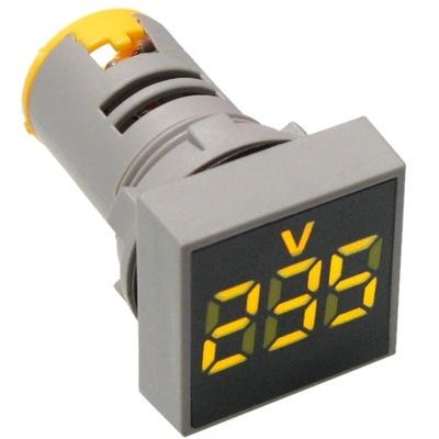 LED žltá 230V 500V napätie meter ŠARLATÁN