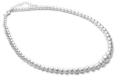 Naszyjnik korake z czeskich pereł Jablonex białe 5579738516 - Allegro.pl 660aa1e8484