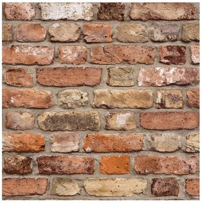 ОБОИ СТАРЫЙ Стена кирпич флизелиновой основе камень 3D