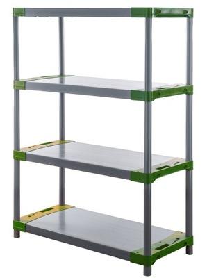 Regál - polica -  Skladovací stojan ako kovový Titanium-4 138x110x46