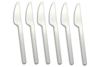 Нож  пластиковый одессит Белый 100шт
