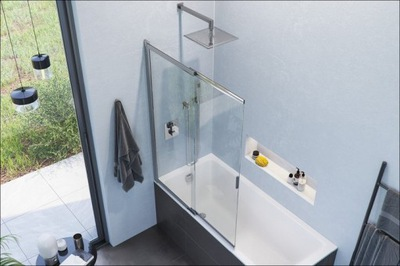 Sprchové dvere - VEĽKOSŤOVÝ OBRAZOVÝ OBRAZ NA NATIAHOVANÚ OCEL 110 CM
