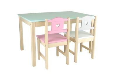 комплект JUNIOR стол, Стол 2 Стульчики для кормления. БОЛЬШАЯ СТОЛЕШНИЦА