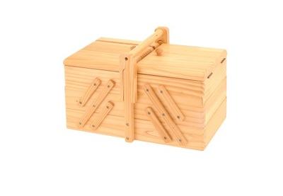 деревянная  - шкатулка,коробка на нити