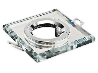 Галогенный прожектор LED квадрат СТЕКЛО стабильная CLEAR
