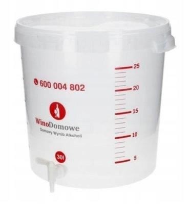 Емкость ферментационный 30л +прокладка+трубка +кран!