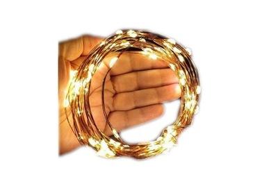 огни ПРОВОЛОЧКИ 100 LED MICRO НА батареи 3 ЦВЕТА