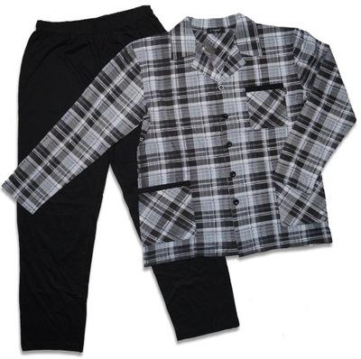 e252d0fc1ddbfe MODNA piżama męska, długi rękaw, 100% bawełna -XXL - 6768510079 ...