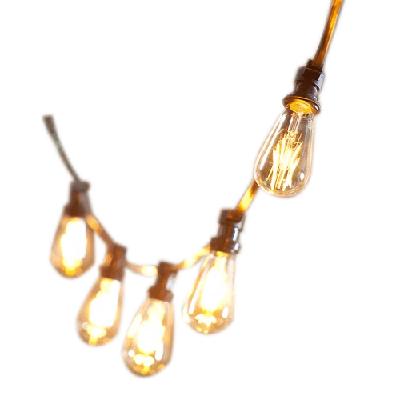 LED svietidlá GIRLANDA - GIRLANDA świetlna 15 mb + 15 LED Vintage Amber ST
