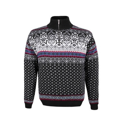 Sweter norweski KAMA 471 Wełna Merino Made in CZ