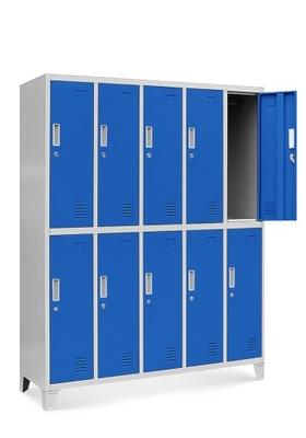 шкаф металлическая охраны ТРУДА, социальная на одежду  НОВАК
