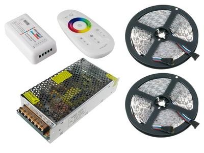 Osvetlenie nábytku LED pás - ZESTAW 10m Taśma LED RGBW RGB Biały Ciepły Zimny
