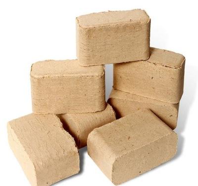 БРИКЕТ instagram лиственный камин кубик RUF10kg