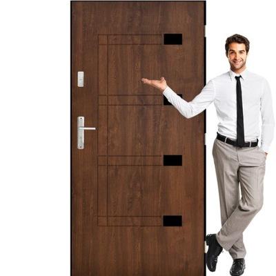 Drzwi stalowe wejściowe zewn. pełne 55mm EPOS 80