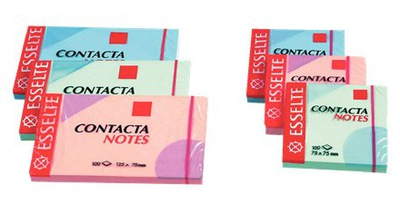 Bloczek karteczki Esselte Contacta Notes 125x75 mm