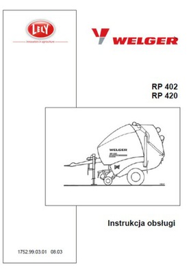 WELGER RP 402, 420 - MANUAL MANTENIMIENTO PL (2003)