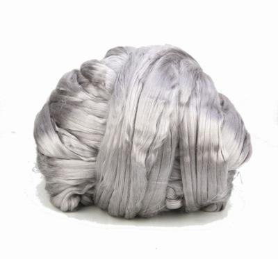 Гребенная шерсть шелковая, шелк для валяния 10г ГОЛУБЕЙ