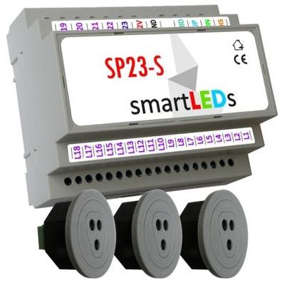 smartLEDs SP23-S Ovládač pre schodisko LED+ 3CZUJNIKI