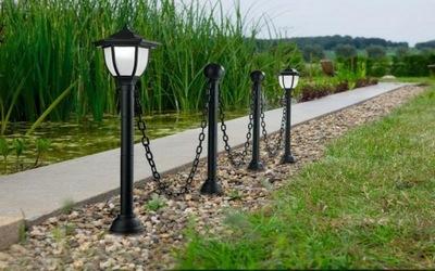 солнечная лампа античная забор - 4 столбики, Цепь