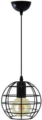 Svietidlá - Závesné svietidlá - Lampa druciana wisząca 1xE27 czarna Loft kula