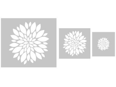 Kvety - kreatívne sadu maľovanie šablón