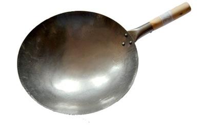 Wok 14 Palcový 35 cm Čínsky Ručne Kované uhlíkovej Ocele