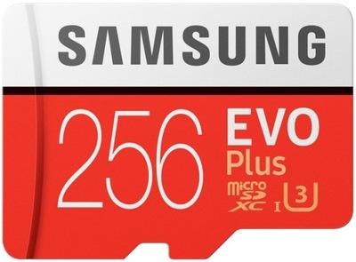 Samsung EVO плюс 256 гб,SDXC 100МБ/S КАРТА