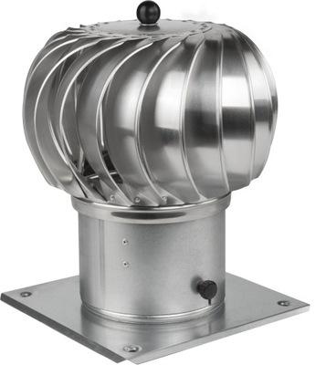 Komínová strieška, hlavica - Komínový otočný ø 350 hliník
