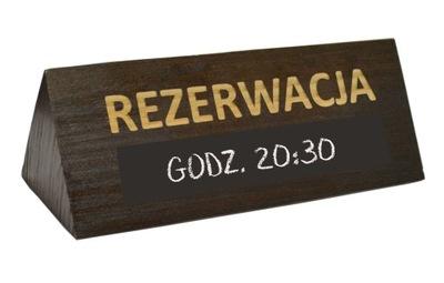ТАБЛИЧКА БРОНИРОВАНИЕ двусторонняя деревянная Стенд