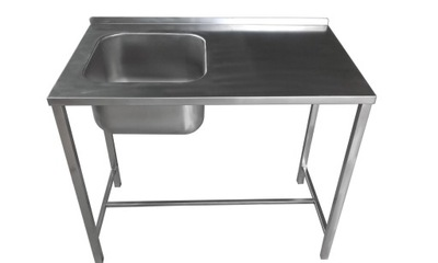 стол С УМЫВАЛЬНИКОМ Нержавеющая сталь 1200x600x850