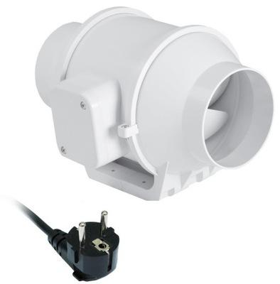 Ventilátor - Kanálový ventilátor DV100 s káblom 155 m³ / h