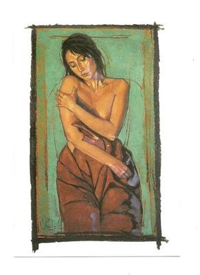 П / я.- N. Vrielink, женщина / Портрет 2 , в зелени