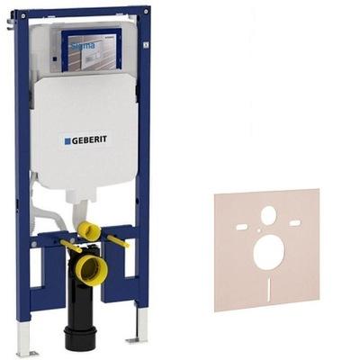 Montážny rám pre závesné WC - OCEL GEBERIT SLIM 8cm SIGMA 111.796.00.1 + MATA