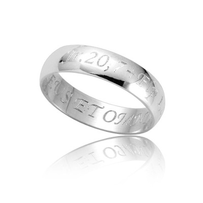 obrączka srebrna GRAWER gratis super prezent -20%