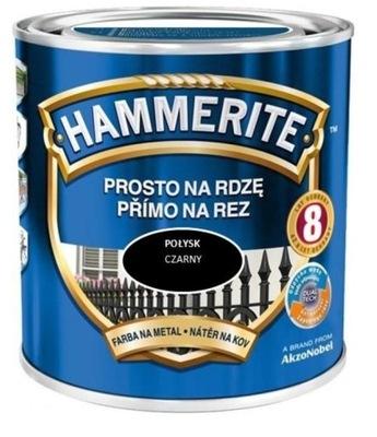 HAMMERITE Priamo na hrdzu 2.5 L LESKLÁ ČIERNA