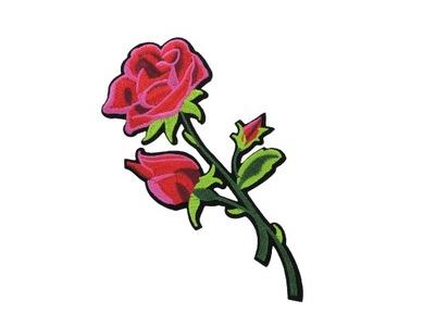 naszywka termo łata aplikacja KWIAT róża z ogrodu2