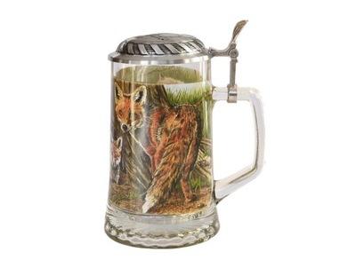 кружка для пива рисунок ЛИСА уникальный красивый подарок