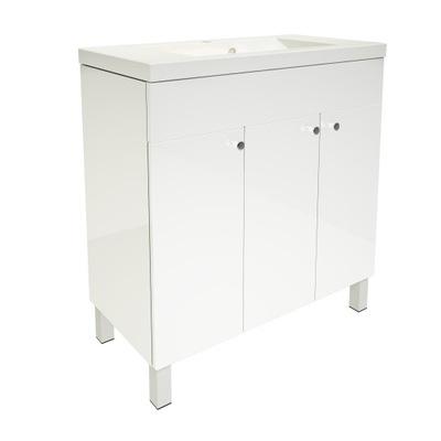 szafka z umywalką 80 stojąca 4 nogi BIAŁY lakier
