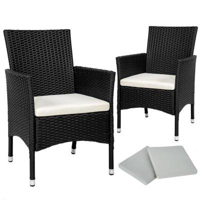 2x Stoličky, nábytok, RATAN nábytok black 402122