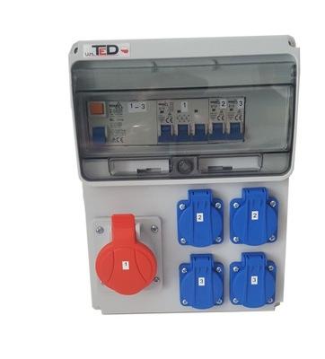 Распределительное устройство строительная 16A+4x230 защищена