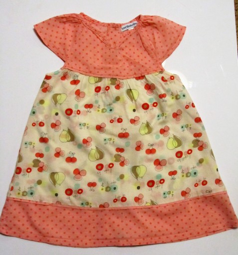 Vertbaudet 9-12 80 cienka sukienka letnia