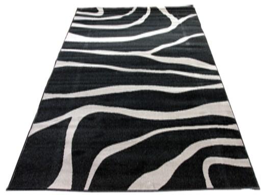 Dywany Młodzieżowe Alazebra Czerń Popiel 190x280