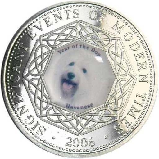 SOMALIA 1 DOLLAR 2006 Pies Havanese 10 Stan I/-I