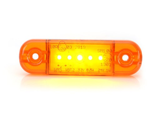 ZIBINTAS (LEMPOS-FAROS) GABARITINIS LED W97.2 5 LED ORANZINE