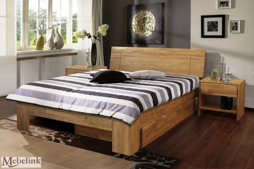 Szafka nocna JUDITH, dębowa, lite naturalne drewno