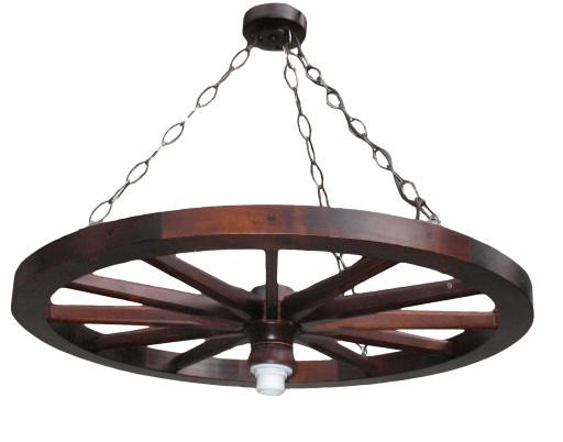Lampa żyrandol Kolo Wozu Kolo Drewniane Do Altany