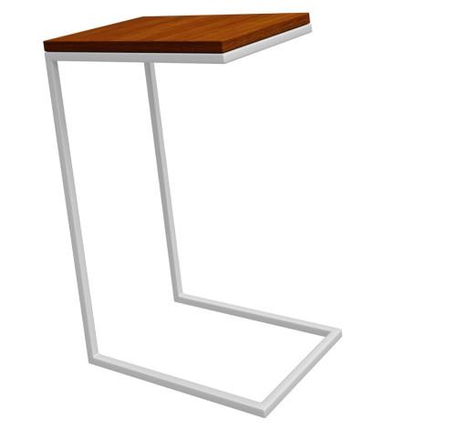Stolik Pod Laptopa Wsuwany Biały Drewniany Wysoki