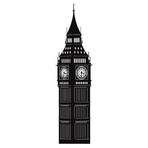 Naklejka ścienna , Big Ben Londyn, Anglia, wnętrza