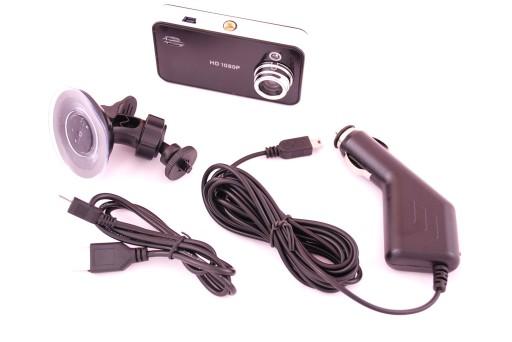 REGISTRATORIUS AUTOMOBILINIS HD 2.4 LCD K600 +NEMO